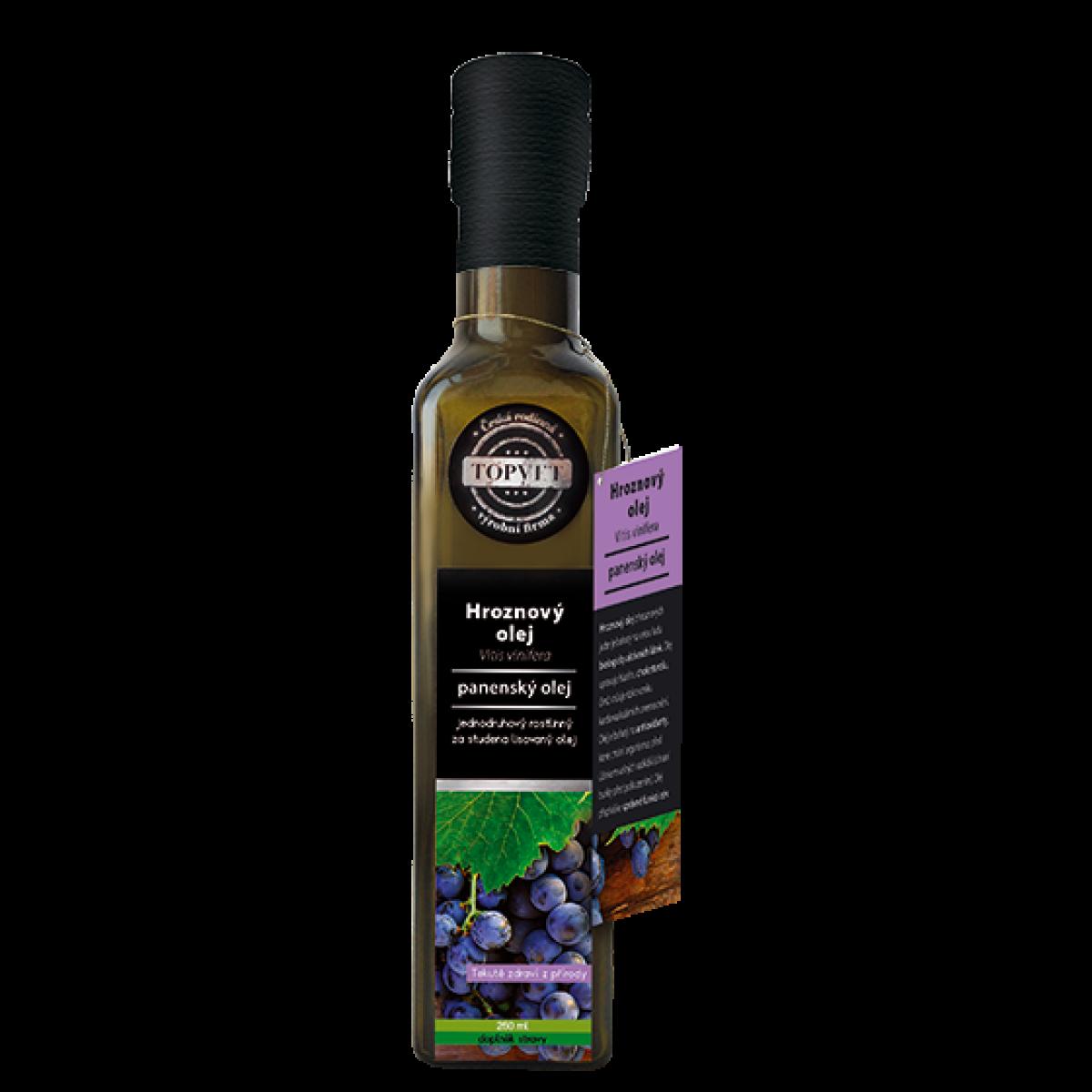 TOPVET Potravinový Olej Hroznový 250 ml